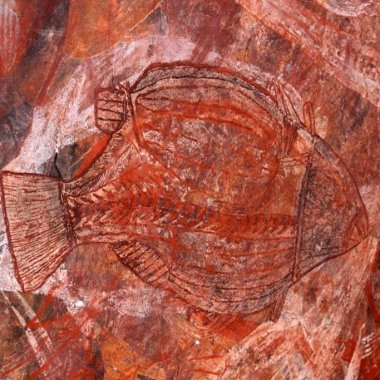 Aboriginal rock art, Kakadu National Park, NT, Australia