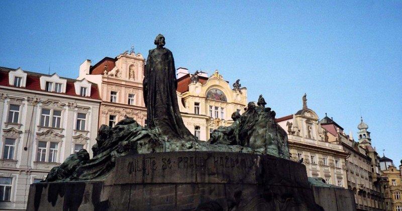 Main square memorial, Prague, Czech Republic