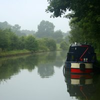 A canal boat holiday in England
