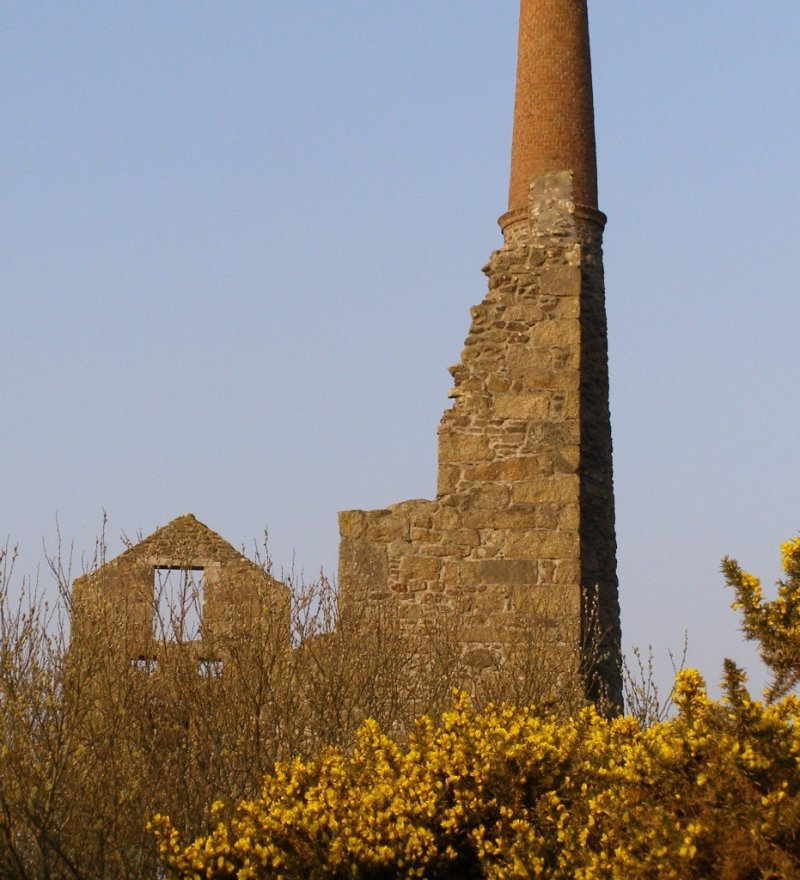 Cornwall - ruined tin mining landscape