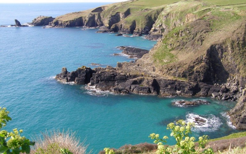 Cornwall sea cliffs