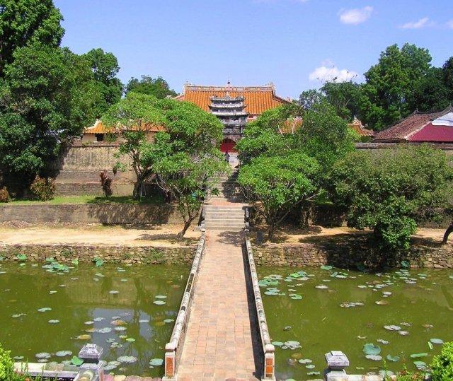 Tu Duc mausoleum, hue, vietnam
