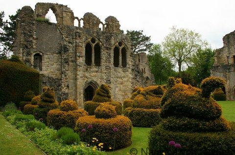Much Wenlock Priory in Shropshire