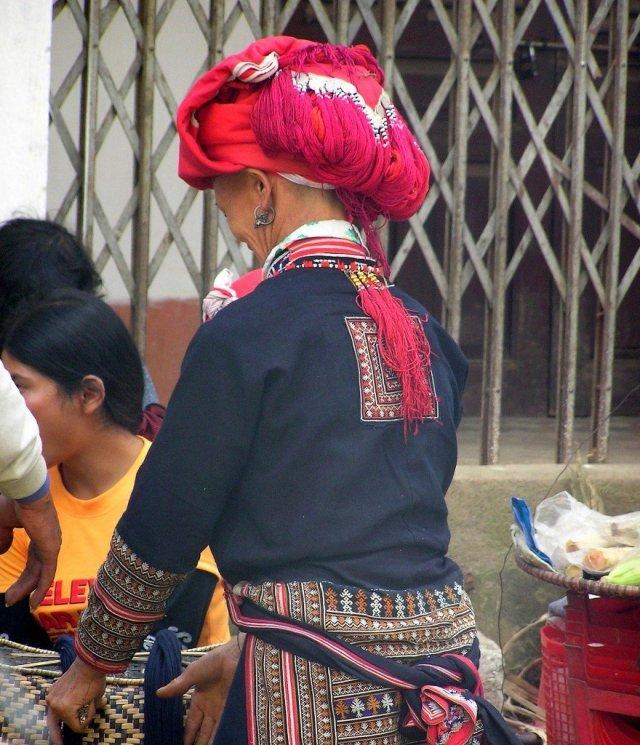 Sa Pa market costumes, Vietnam