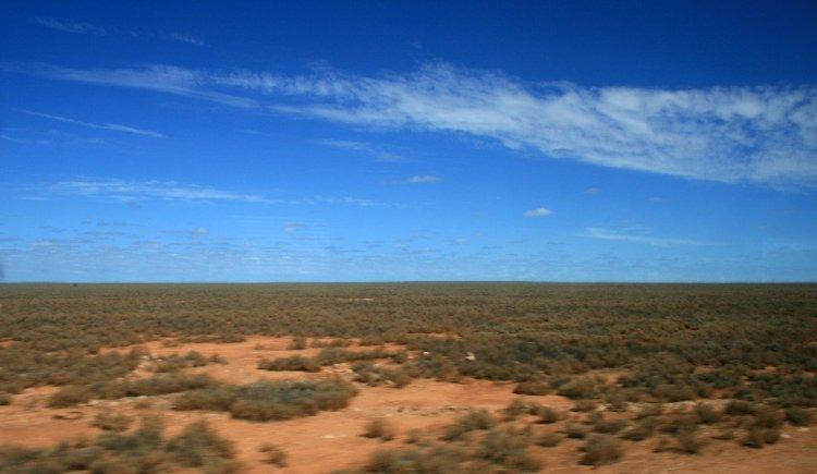 Nullabor Plain, Indian Pacific rail journey, Australia