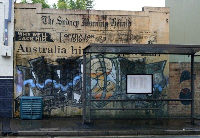 Street art in Newtown, Sydney, Australia