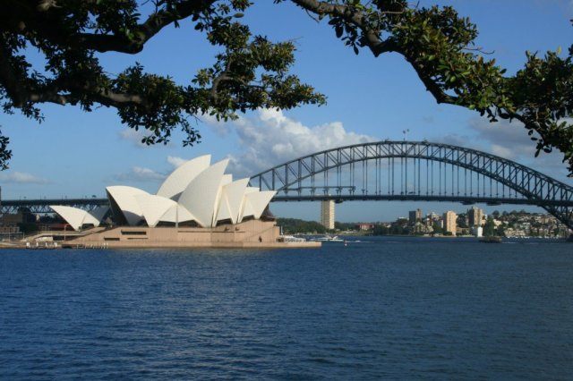Sydney Opera House and Harbour Bridge photo, Australia