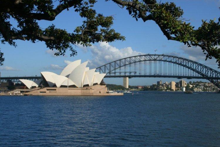 Sydney Opera House and Harbour Bridge photo, Australia