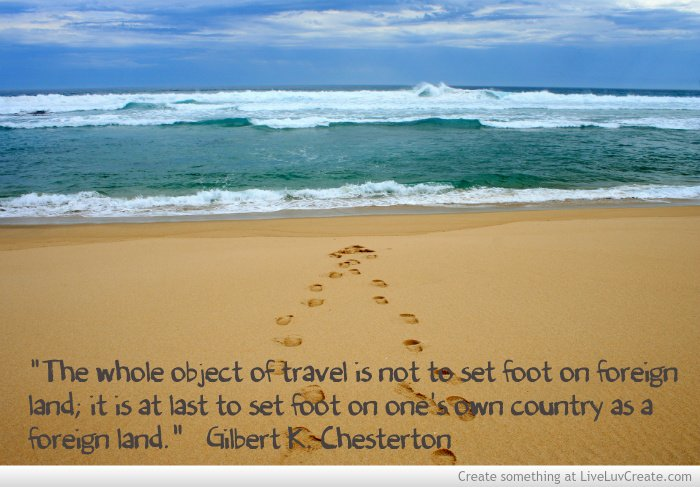 Gilbert Chesterton Travel Beach