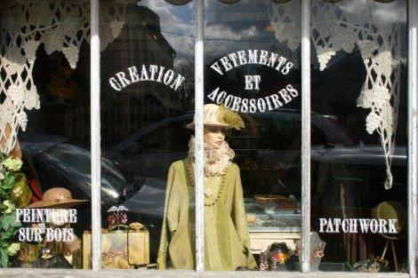 Shops in Beuvron-en-Auge, Normandy, France