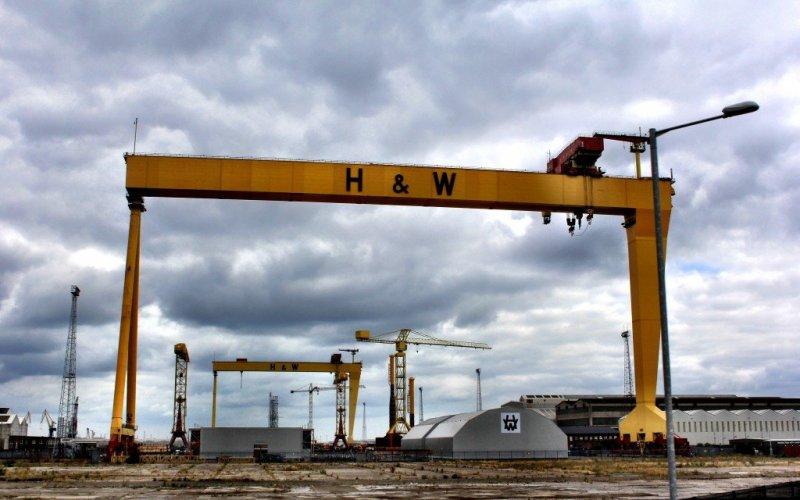 Cranes in Belfast, Northern Ireland