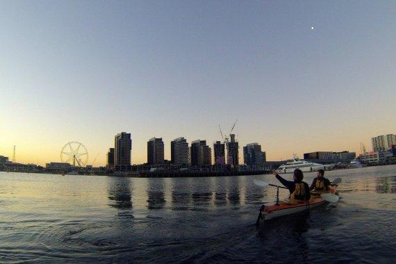 Kayaking Melbourne's Yarra River