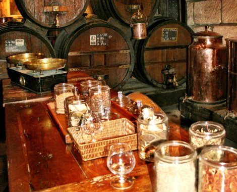Ingredients at the Denoix Distillery, Correze, France