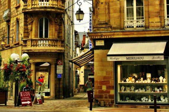 Street in Brive la Gaillarde, France