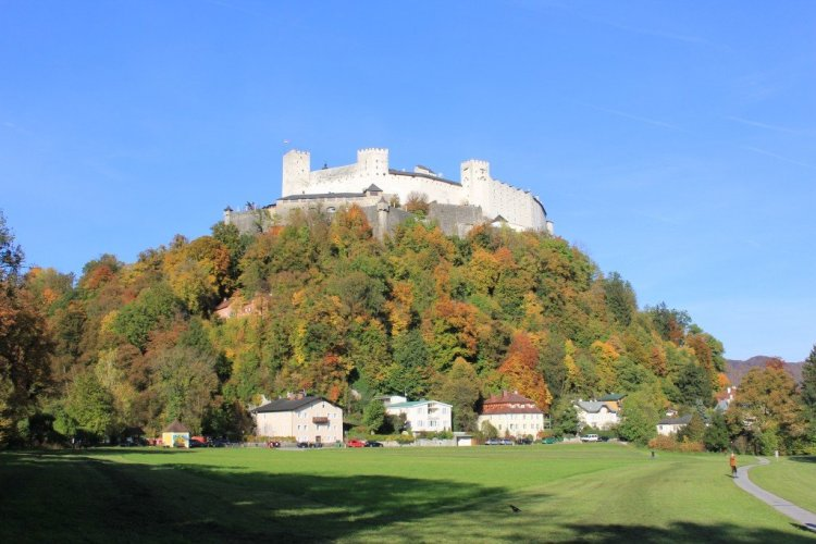 View of Hohensalzburg from behind