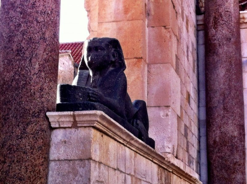 Egyptian sphinx in Split, Croatia
