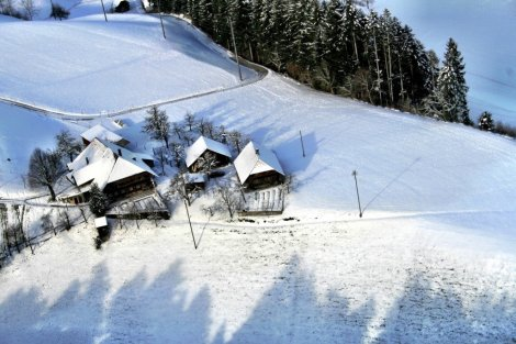Emmental Valley from the air, Switzerland