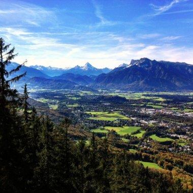 View from the Gaisberg trail, Salzburg, Austria