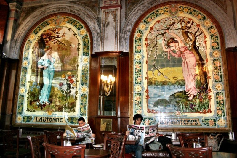 Art Nouveau cafe in Istanbul