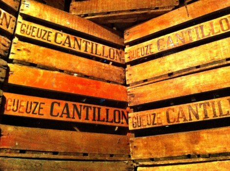 Cantillon Brewery crates Brussels