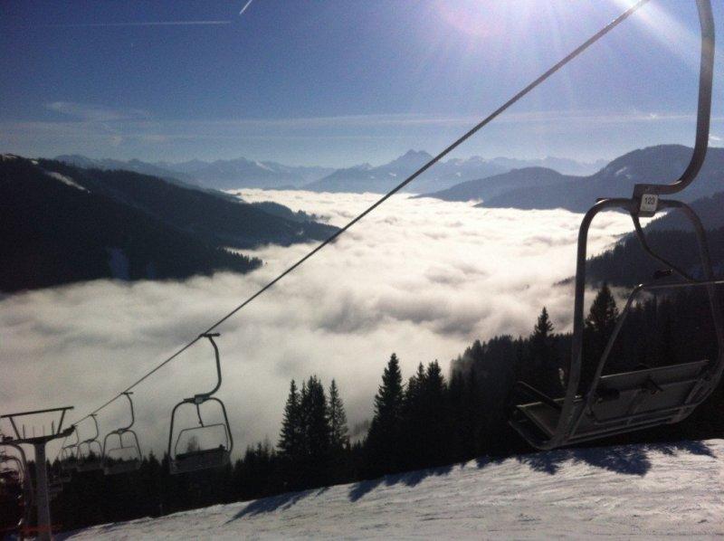 Skiing in Hochkonig, Austria