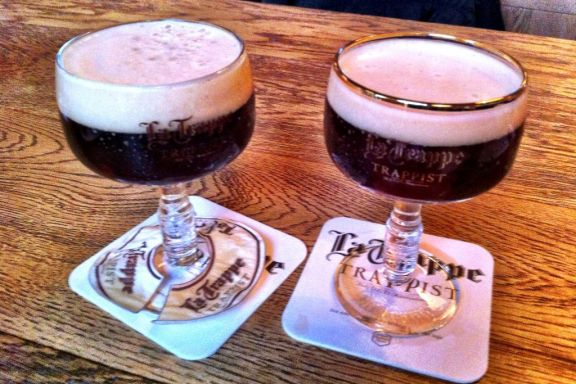 La Trappe beer at the Trappiste Abbey de Koningshoeven, Netherlands