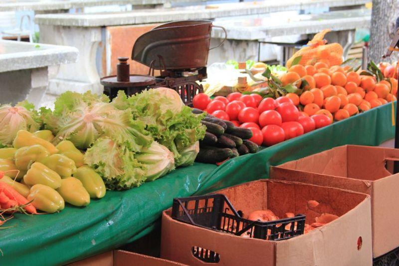Trogir market, Croatia