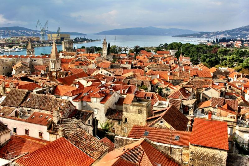Trogir view from the church tower, Croatia