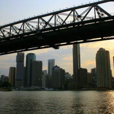 River Cruise under the Storey Bridge in Brisbane, Australia