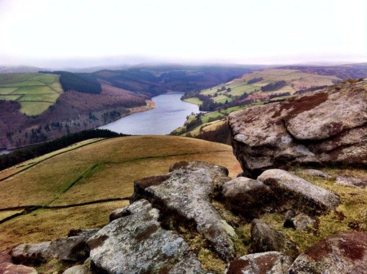 View over Derwent Reservoir, Derbyshire England