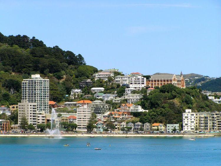 Oriental Parade in Wellington, New Zealand