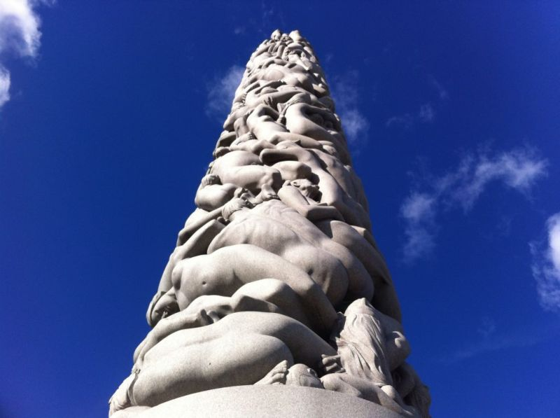 At the Vigeland Sculpture Park, Oslo Norway