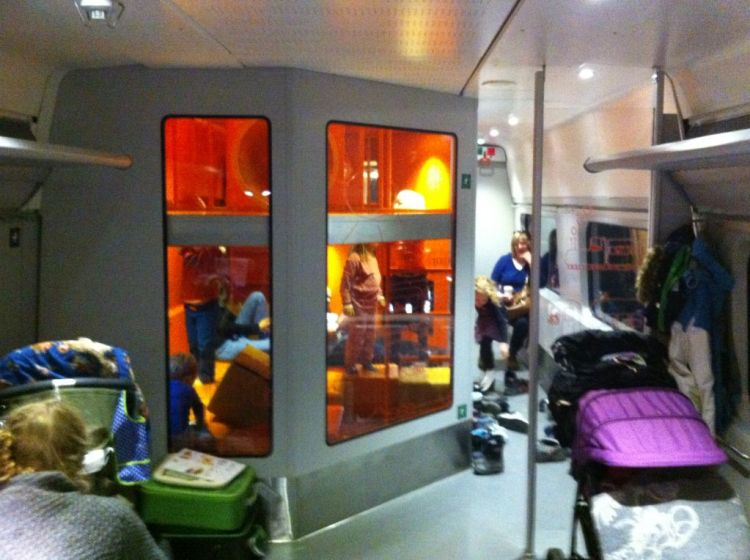 Family carriage on the Oslo to Bergen train, Norway