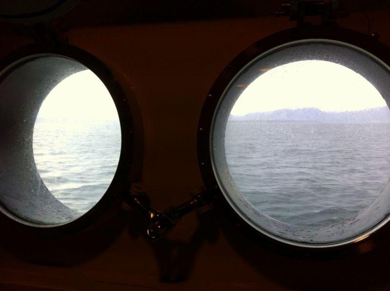 Porthole view, Norway coastal voyage