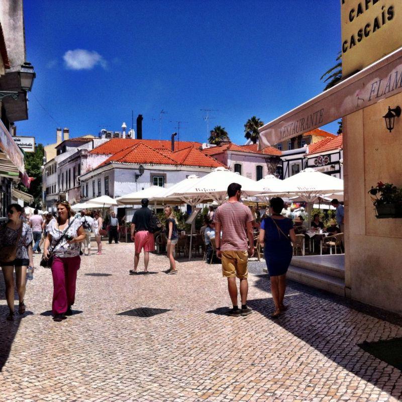 Cascais bustling main square, Portugal