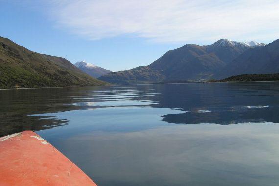 Fishing on Lake Wanaka, New Zealand