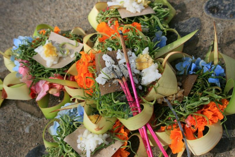 Bali offerings to the gods