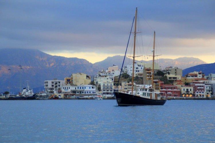 Sunset at Agios Nikolaos, Crete