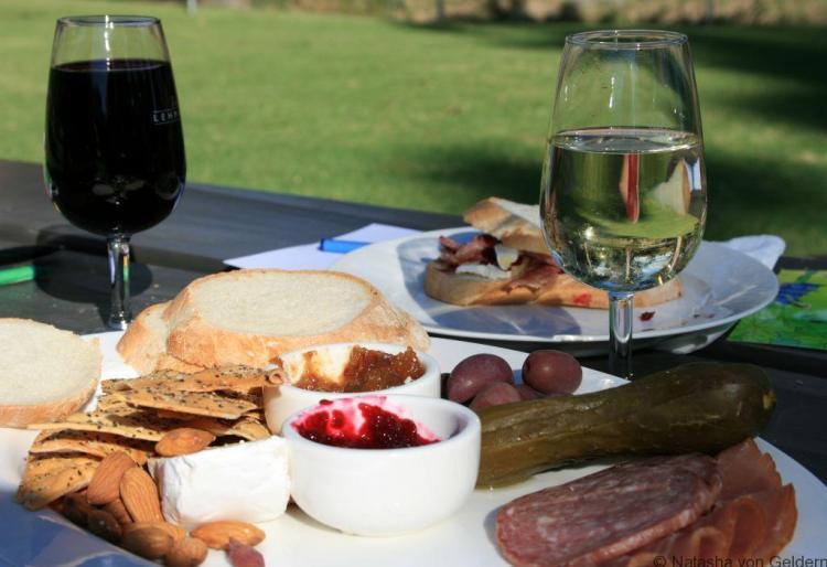 Lunch at Peter Lehman vineyard, Barossa Valley, South Australia