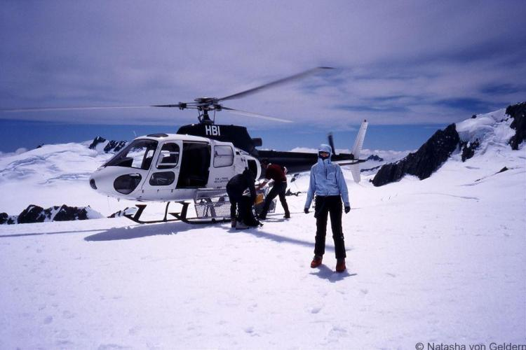 Helicopter Franz Josef Glacier New Zealand