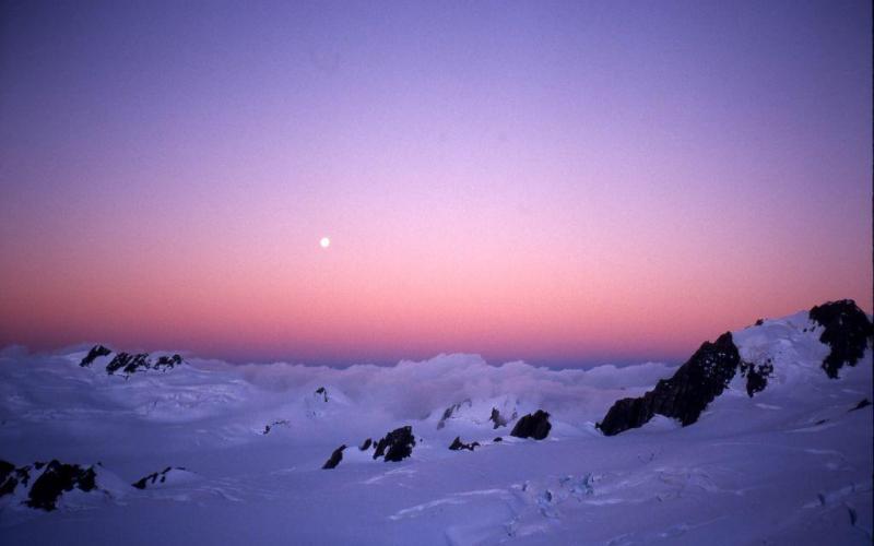 Sunset Franz Josef