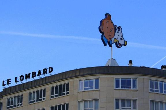 Tintin on Lombard building, Brussels