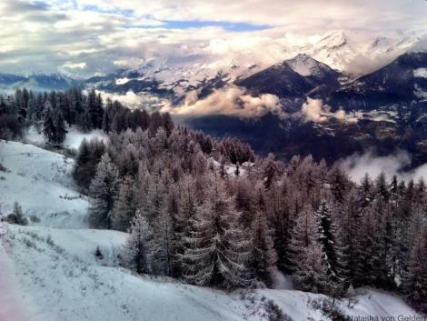 Gondola ride to Pila, Italian Alps