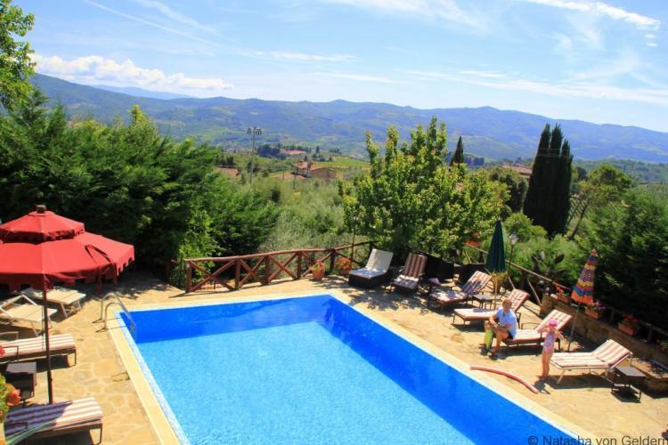 Chianti Casa Mezzuola Agritourismo pool Italy Photo by Natasha von Geldern