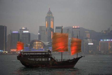 Aqua Luna cruise in Hong Kong