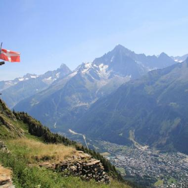 Chamonix Mt Blanc from Bellachat, Tour du Mt Blanc