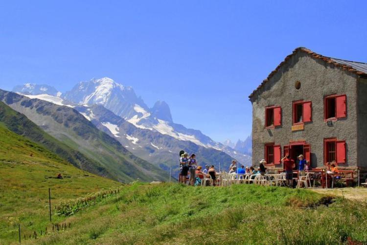 Col du Balme - hiking the Tour du Mt Blanc