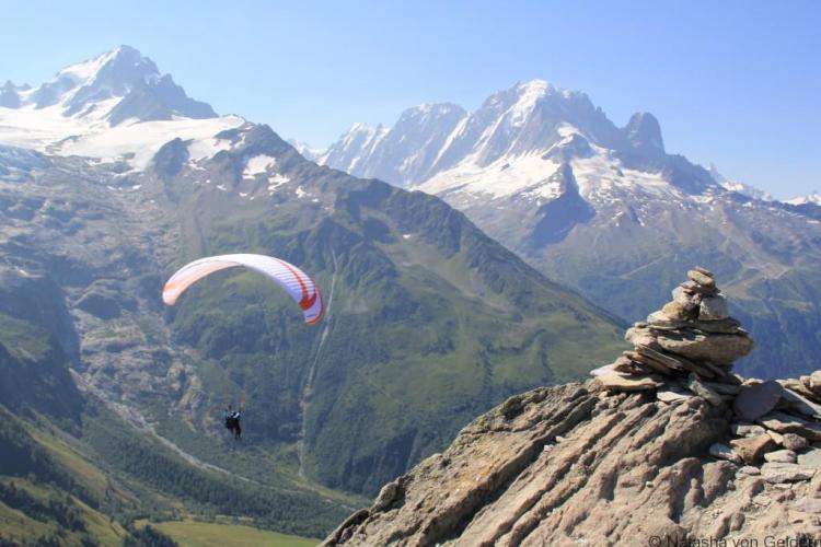 Paragliding in the French Alps