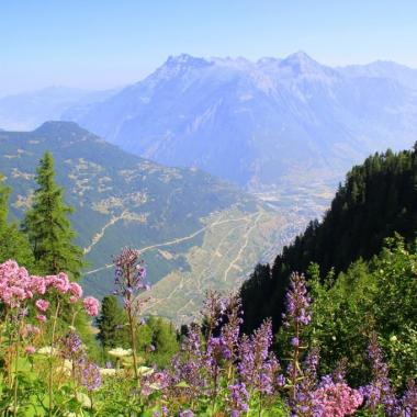 View of Martigny from the Tour du Mont Blanc, Switzerland