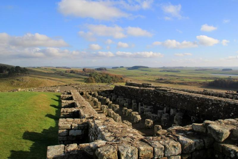 The granary at Housesteads Roman Fort on Hadrians Wall